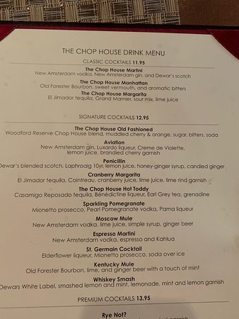The Chop House - Ann Arbor : Happy hour 5pm-7pm any of these drinks for only $5!!
