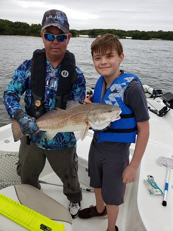 This eleven year old çaught this bull red like a pro in Cedar Key  3/16/19