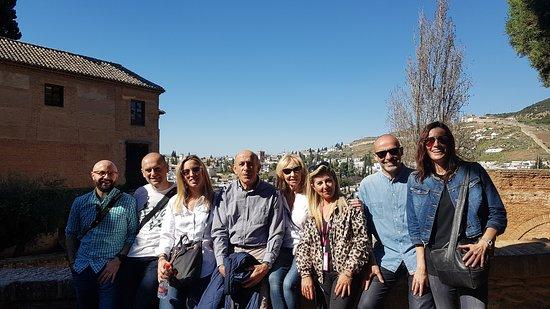 #Alhambra Visita Privada marzo 2019 Sres Rodríguez e invitados  con Guia Gema
