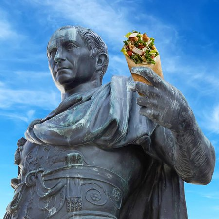 Lauderhill, FL: The Ides of March wasn't a great day for Caesar, but it sure is a great day for a Supergreen Caesar Chicken Wrap!