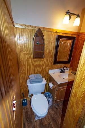 Our cabins offer updated bathrooms with shower stalls.
