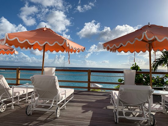 Terres Basses, St Martin / St Maarten: Our view for lunch