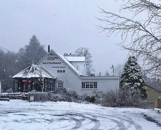 Balquhidder, UK: A welcoming sight especially on a cold snowy day