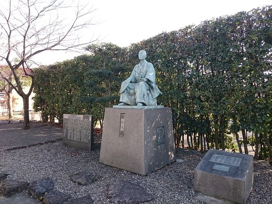 Ogaki, Japan: 所郁太郎の像