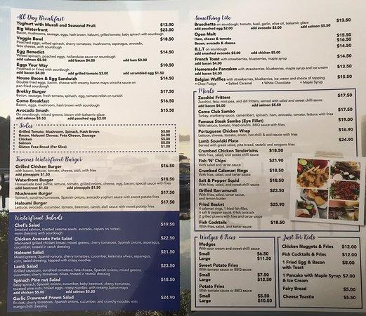 Loving 🥰 the menu 😋