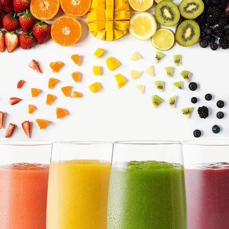 Lauderhill, FL: Follow the rainbow of flavors and add 24 ounces of delicious Smoothies!
