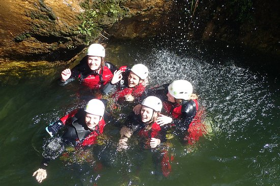 Canyoning Marbella - niveau 1: our group