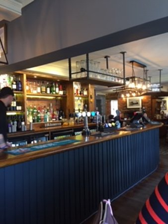 The bar at the fisherman's rest Titchfield.