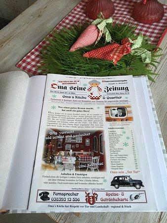 Rugen Island, Germany: Die Speisekarte von Omas Küche  Binz auf Rügen