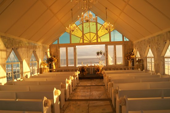 Matautu, Samoa: Chapel by the Sea at sunset