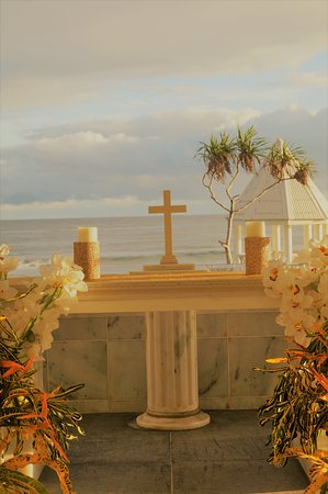 Matautu, Samoa: The altar in Chapel by the Sea Wedding Chapel