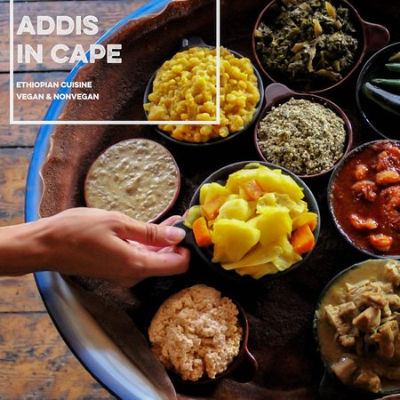 Addis in Cape Ethiopian Restaurant : Are you a local or just visiting town? Looking for some real food and a unique dining experience?  Addis welcomes all, vegans and nonvegans, to come share a taste of the extraordinary. 🇪🇹✨  Perfect for dates, lunch breaks, parties and tourist groups!  Come to Addis in Cape and indulge in some authentic African flavours.