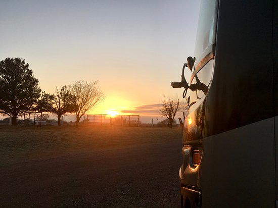 Portales, NM: Sunset from our Motorhome.