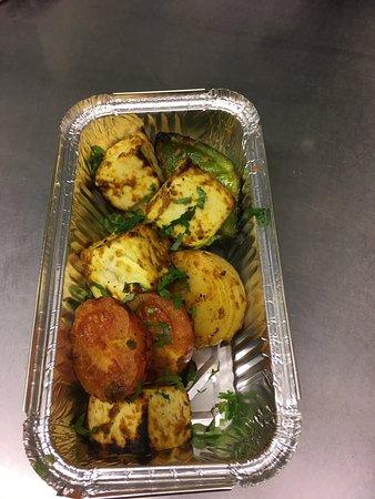 Kolkata Diner: Paneer (cottage cheese) Shashlick....