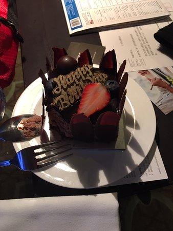 The Westin Bund Center Shanghai: Complimentary bday cake.  YUMMY.