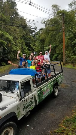Jeep & Zipline Adventure in St. Lucia: On the way to the rain forest.