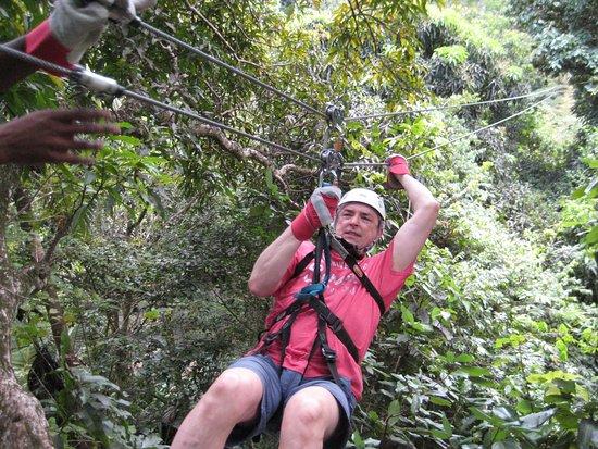 Jeep & Zipline Adventure in St. Lucia: Coming in hot!
