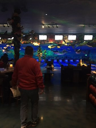 Bowling alley at the Fun Center