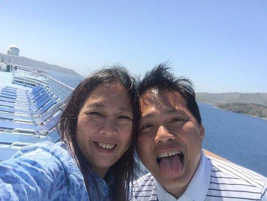 South Aegean, Hellas: At a cruise ship in the Aegean Sea