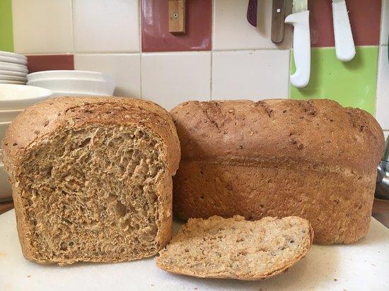 Freshly Baked wholemeal bread