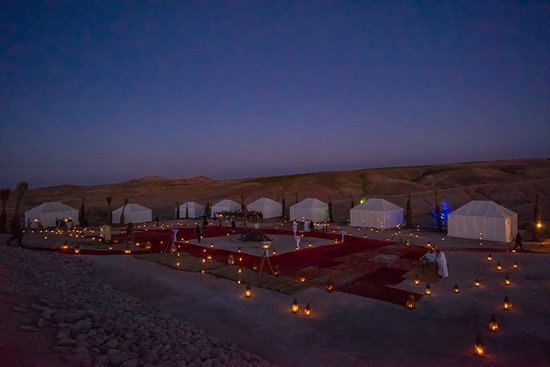dîner sous tente  – Bild von Oasis of Agafay, Agafay - Tripadvisor