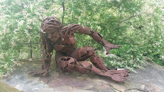 One of the sculptures you will find around the property