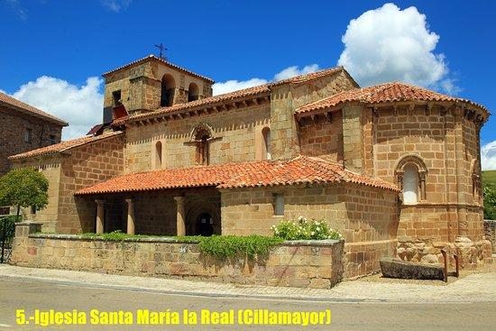 Aguilar de Campoo, Španělsko: Ruta del Románico palentino en bicicleta. Iglesia de Santa Maria la Real (Cillamayor).