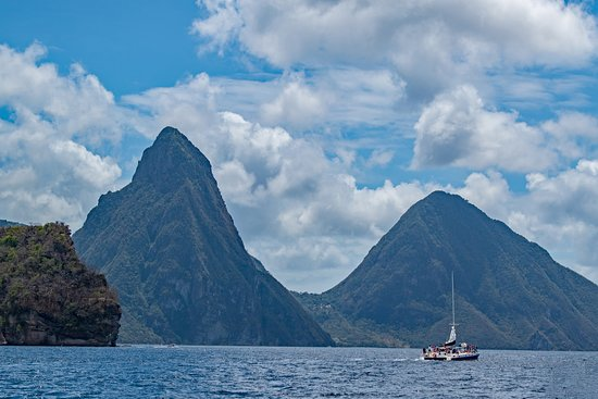 Pitons: Volcanic plugs Petit Piton, left, and Gros Piton, right. (AlpinerHut)