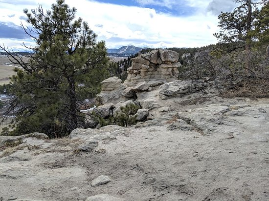 Castle Rock, CO: One of the many views from Spruce  Mountain.