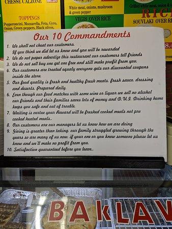 Loganville, GA: Athenas Gyro 10 Commandments