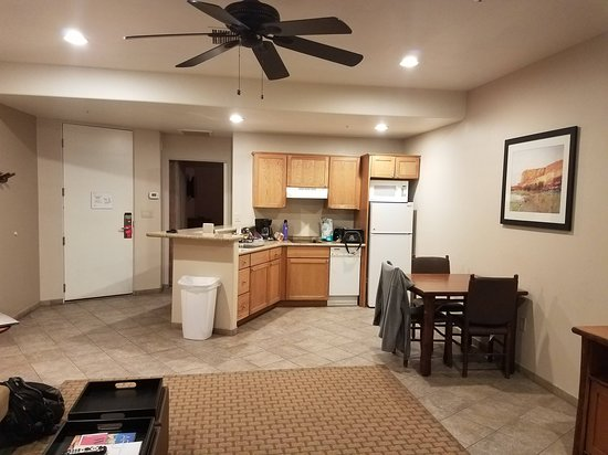 Dining/Kitchen in one bedroom unit