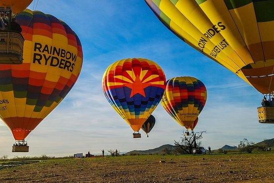 フェニックス出発、熱気球日の出ツアー