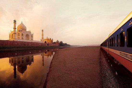 从德里乘坐超高速列车到泰姬陵的全日游