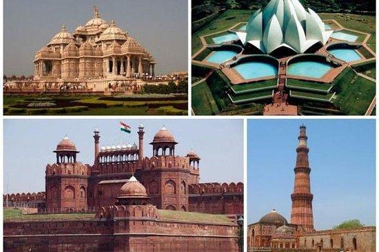 旧德里市和新德里市的私人全日组合之旅与入场费