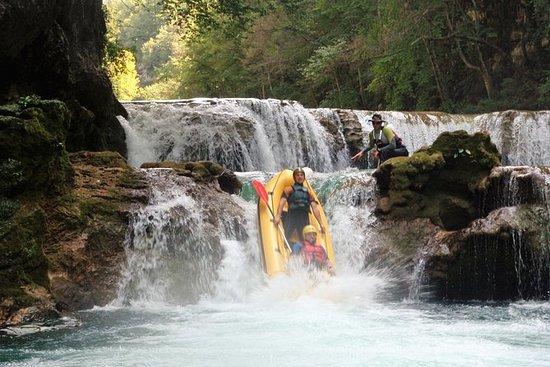 Kayaking on upper river Mreznica...