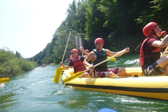Canoeing on river Kupa, Croatia...