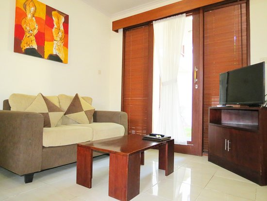 Living area in a Two Bedroom