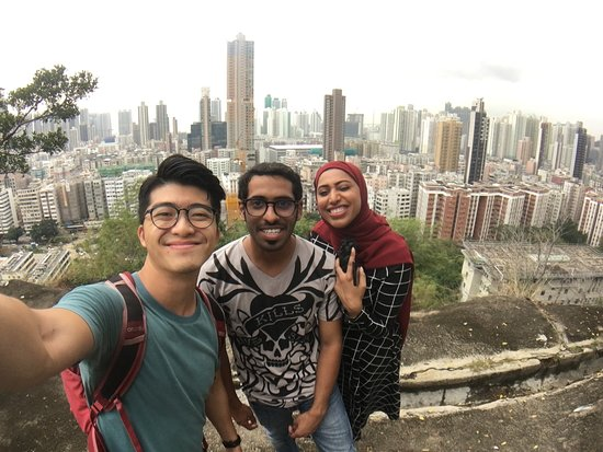 Selfie on a small hill