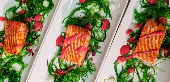 Claytons and The Glasshouse: Tasting menu, salmon fillet