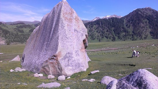 Dzhargalan, สาธารณรัฐคีร์กีซ: Большой камень в ущелье Жыргалан