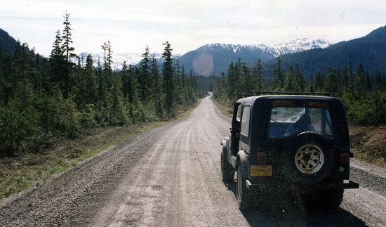 1994 traveling with my fabulous rusty, really rusty Jeep renegade in Douglas Island