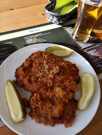 Placki z curry i kurczakiem