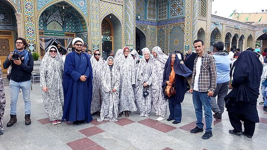 a german group visiting the holyshrine of Masoumeh