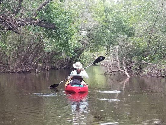 Canoe Outpost - Little Manatee River: Heading downstream on Little Manatee River from Canoe Outpost.