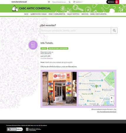 Info Tickets : Casco antiguo, el la web del ayuntamiento nos reconocen y valoran.