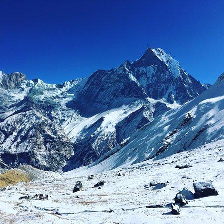 Mt.Fishtail (Machhapuchhare) As seen from Annapurna base camp 4130m