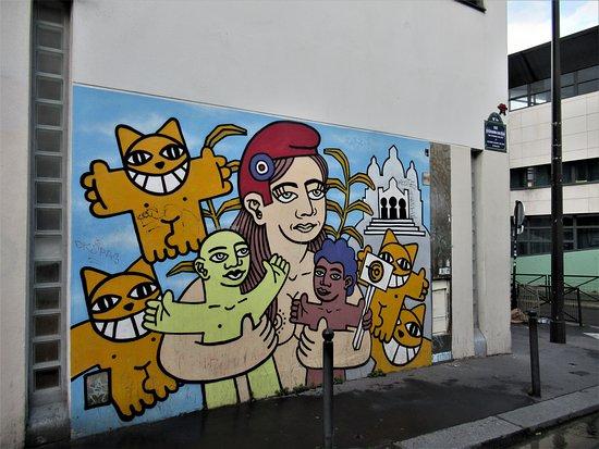 """Fresque """"M. Chat et la République"""""""