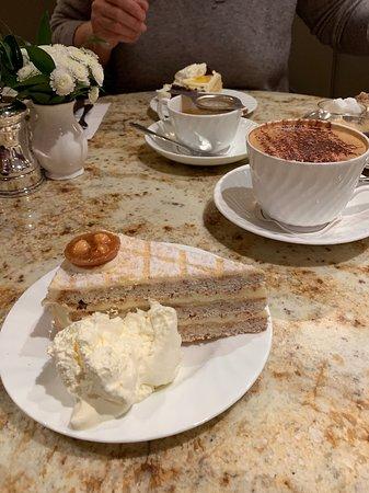Engadine Torte and Cappuccino