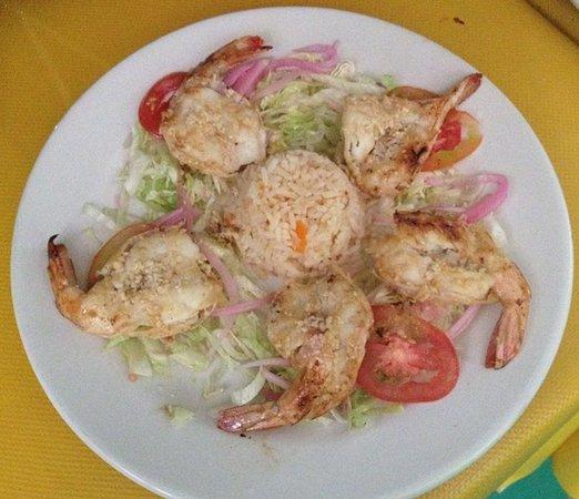 Restaurant la Teja : camarones al mojo de ajo