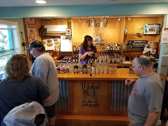 Wicked Dolphin Rum Distillery: More tasting (and purchasing).